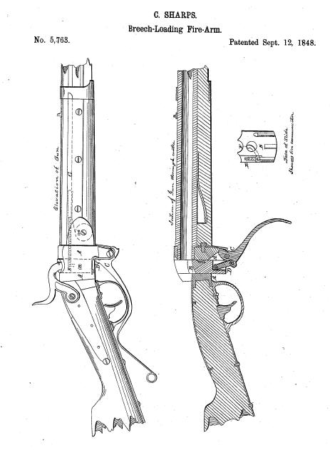 Sharps Rifle Drawings Patent Drawing